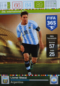 2016 FIFA 365 INTERNATIONAL STAR Lionel Messi #348