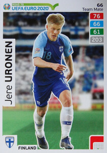 ROAD TO EURO 2020 TEAM MATE Jere Uronen 66