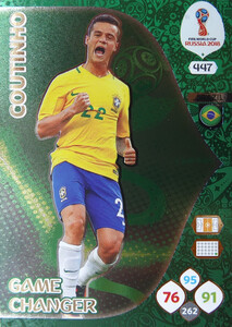 WORLD CUP RUSSIA 2018 GAME CHANGER COUTINHO 447