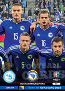 ROAD TO EURO 2016 LINE-UP BOŚNIA HERCEGOWINA  #44