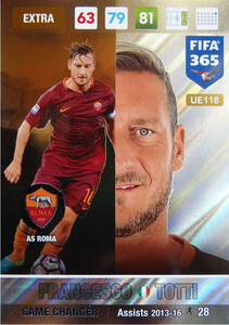 UPDATE 2017 FIFA 365 GAME CHANGER FRANCESCO TOTTI #118