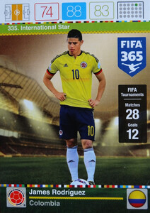 2016 FIFA 365 INTERNATIONAL STAR James Rodriguez #335