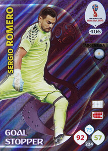 WORLD CUP RUSSIA 2018 GOAL STOPPER ROMERO 406