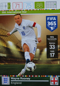 2016 FIFA 365 INTERNATIONAL STAR Wayne Rooney #350