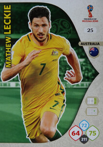 WORLD CUP RUSSIA 2018 AUSTRALIA TEAM LECKIE 25