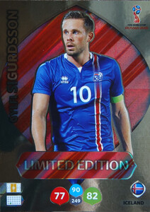 WORLD CUP RUSSIA 2018 LIMITED ISLANDIA  Gylfi Sigurdsson