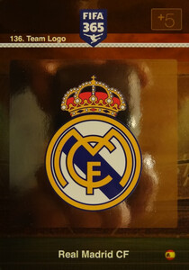 2016 FIFA 365 TEAM LOGO REAL MADRID CF #136