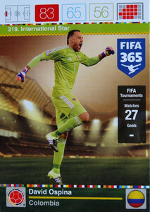 2016 FIFA 365 INTERNATIONAL STAR David Ospina #319
