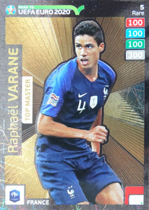 ROAD TO EURO 2020 RARE TOP MASTER VARANE 5