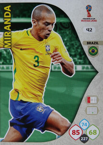 WORLD CUP RUSSIA 2018 BRAZYLIA TEAM MIRANDA 42