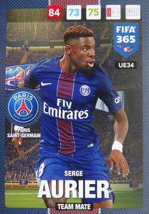 UPDATE 2017 FIFA 365 TEAM MATE Serge Aurier #34