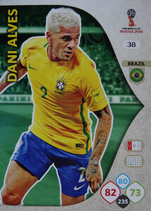WORLD CUP RUSSIA 2018 BRAZYLIA TEAM DANI ALVES 38