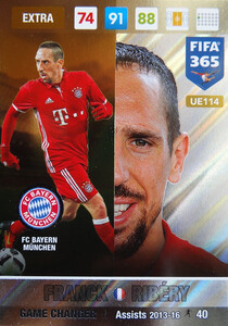 UPDATE 2017 FIFA 365 GAME CHANGER FRANCK RIBERY #114