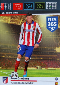 2016 FIFA 365 TEAM MATE ATLETICO de MADRID José Giménez #25