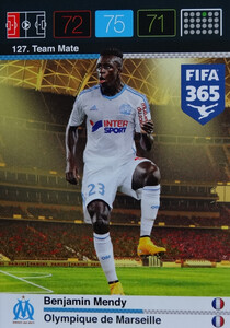 2016 FIFA 365 TEAM MATE OLYMPIQUE DE MARSEILLE  Benjamin Mendy #127