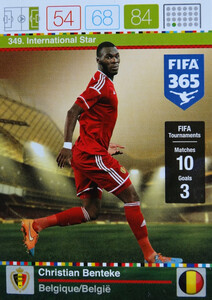2016 FIFA 365 INTERNATIONAL STAR Christian Benteke #349