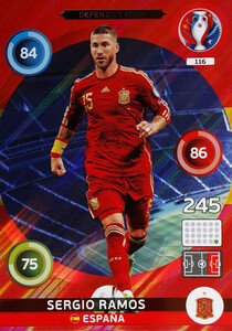 EURO 2016 DEFENSIVE ROCK Sergio Ramos  #116