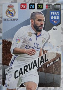2018 FIFA 365 TEAM MATE Daniel Carvajal #125