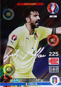 EURO 2016 SIGNATURE Gianluigi Buffon #187