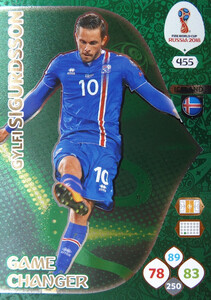 WORLD CUP RUSSIA 2018 GAME CHANGER SIGURDSSON 455