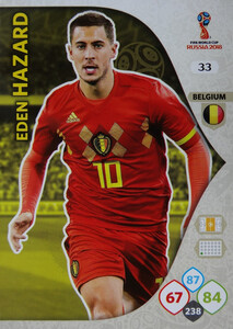WORLD CUP RUSSIA 2018 BELGIA TEAM HAZARD 33