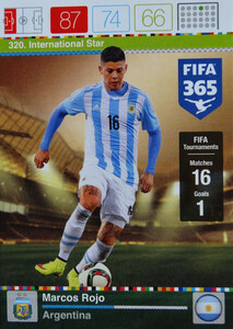2016 FIFA 365 INTERNATIONAL STAR Marcos Rojo #320