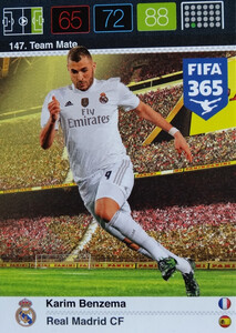 2016 FIFA 365 TEAM MATE REAL MADRID CF Karim Benzema #147