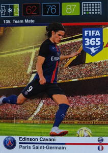 2016 FIFA 365 TEAM MATE PARIS SAINT-GERMAIN Edinson Cavani #135