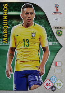 WORLD CUP RUSSIA 2018 BRAZYLIA TEAM MARQUINHOS 41