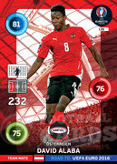 ROAD TO EURO 2016 TEAM MATE David Alaba #138
