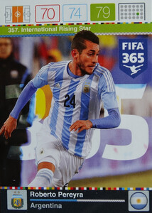 2016 FIFA 365 INTERNATIONAL RISING STAR Roberto Pereyra #357