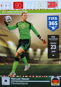 2016 FIFA 365 INTERNATIONAL STAR Manuel Neuer #317