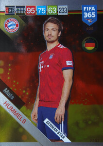2019 FIFA 365 GERMAN STAR Mats Hummels #405