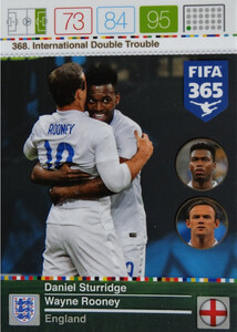 2016 FIFA 365 INTERNATIONAL DOUBLE TROUBLE Sturridge/ Rooney #368