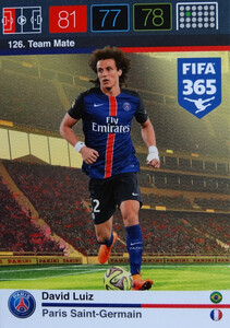 2016 FIFA 365 TEAM MATE PARIS SAINT-GERMAIN David Luiz #126