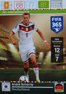 2016 FIFA 365 INTERNATIONAL STAR André Schürrle #341