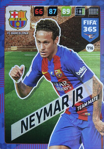 2018 FIFA 365 TEAM MATE Neymar Jr. #116