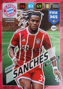 2018 FIFA 365 TEAM MATE Renato Sanches #168