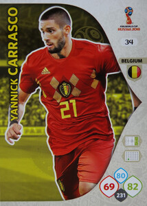 WORLD CUP RUSSIA 2018 BELGIA TEAM CARRASCO 34
