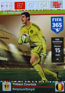 2016 FIFA 365 INTERNATIONAL STAR Thibaut Courtois #316