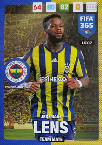 UPDATE 2017 FIFA 365 TEAM MATE JEREMAIN LENS #87