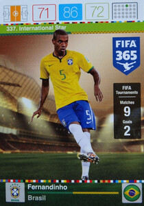 2016 FIFA 365 INTERNATIONAL STAR Fernandinho #337
