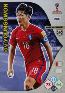 WORLD CUP RUSSIA 2018 TEAM MATE KOREA YOUNGGWON 200