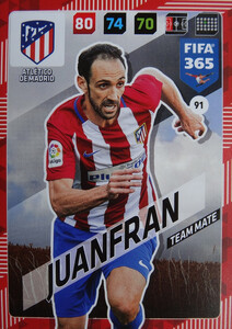2018 FIFA 365 TEAM MATE Juanfran #91