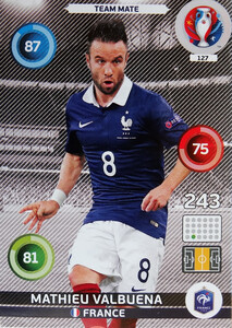 EURO 2016 TEAM MATE Mathieu Valbuena #127
