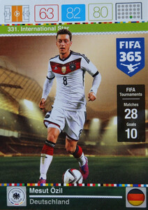 2016 FIFA 365 INTERNATIONAL STAR Mesut Ozil #331