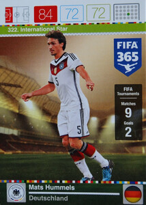 2016 FIFA 365 INTERNATIONAL STAR  Mats Hummels #322
