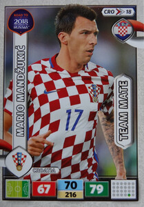 ROAD TO RUSSIA 2018 TEAM MATE CHORWACJA MANDZUKIC 18