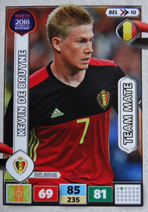 ROAD TO RUSSIA 2018 TEAM MATE BELGIA DE BRUYNE 10