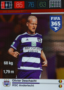 2016 FIFA 365 DEFENSIVE ROCK Olivier Deschacht #245